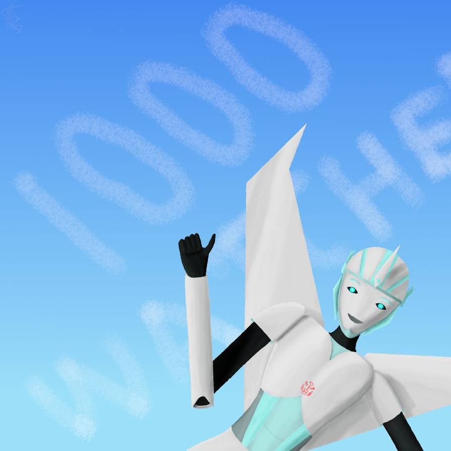 My Transformers original character Silverwind celebrating 1000 watchers
